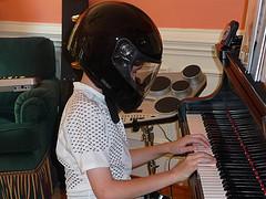 Matthew playing the piano