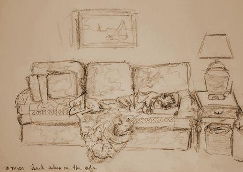 Sketch-Sarahasleeponsofa
