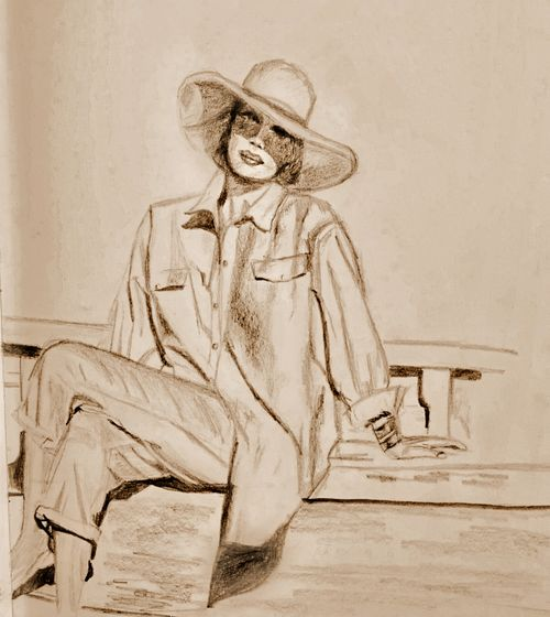 Sketch-Womanwithhat