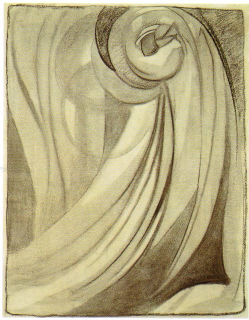Early-no_-2_-o_keeffe_-1915_-charcoal-on-paper