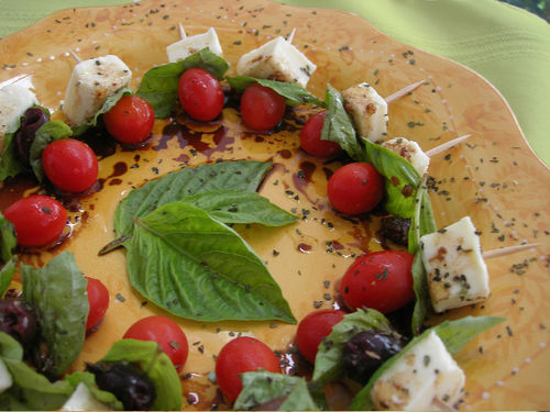 Mozzarella Basil And Tomato Skewers Recipes — Dishmaps